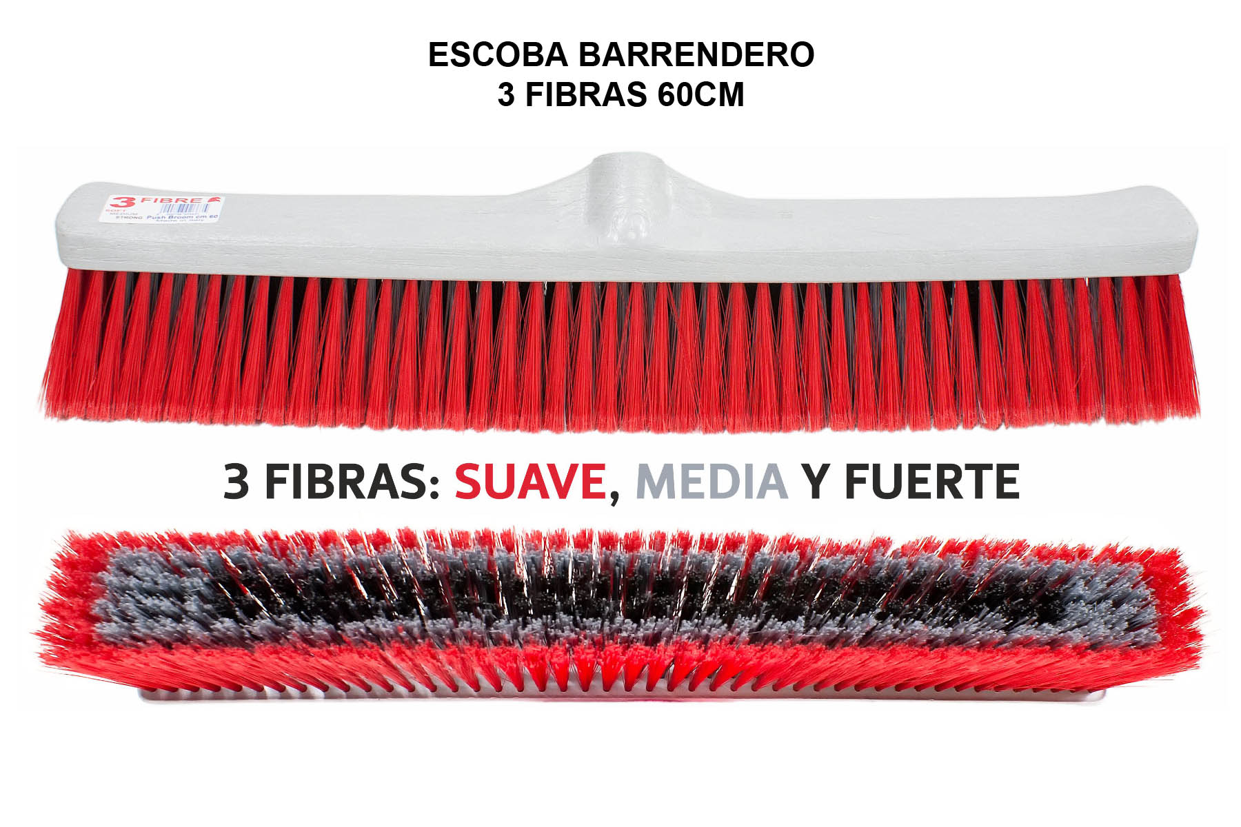 CEPILLO BARRENDERO TRIFIBRA 60CM
